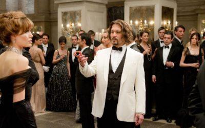"""""""The Tourist"""": Johnny Depp and Angelina Jolie at the Scuola Grande della Misericordia"""